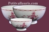 SIMPLE BOWL MODEL PINK OLD MOUSTIERS TRADITION DECORATION