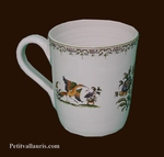 MUG LARGE SIZE OLD MOUSTIERS TRADITION DECORATION