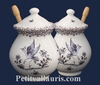 POT A MOUTARDE JARRE DECOR TRADITION VIEUX MOUSTIERS BLEU
