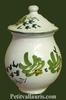 MUSTARD POT JAR MODEL GREEN FLOWERS DECORATION