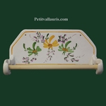 MURAL PAPER UNCURLER GREEN AND YELLOW FLOWERS