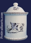 POT DE CHEMINEE ROND TAILLE 3 DECOR TRADITION MOUSTIERS BLEU