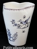 VASE GLAIEUL OLD MOUSTIERS BLUE DECORATION SMALL SIZE