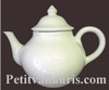 FAIENCE TEAPOT WHITE COLOR ENAMELLED