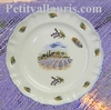 LOUIS XV MODEL PLATE LAVANDERS FIELD DECORATION AND CICADA