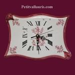 CLOCK PARCHMENT MODEL OLD PINK MOUSTIERS DECORATION