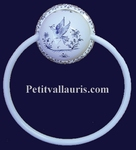 WALL TOWEL HOLDER BLUE MOUSTIERS TRADITION DECOR(METAL RING)