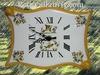 FAIENCE WALL CLOCK PARCHMENT MODEL MOUSTIERS ORANGE BORDER