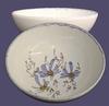 SOUP OR SALAD PLATE BLUE FLOWER PAINT DECORATION