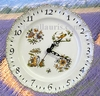 FAIENCE STYLE WALL CLOCK MOUSTIERS POLYCHROME DECORATING AN