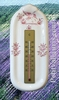 THERMOMETER WITH MURAL SUPPORT PINK OLD MOUSTIERS DECOR