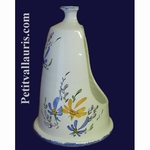 CARRY HAND BRUSH BLUE AND YELLOW FLOWER DECORATION