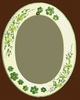 OVAL MIRROR GREEN FLOWERS DECOR AND RELIEF MARGUERITE