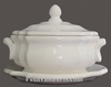 OCTAGONAL SOUP TUREEN WITH DISH WHITE COLOR ENAMELLED