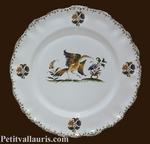 PLATE LOUIS XV DESSERT MODEL OLD MOUSTIERS TRADITION DECOR