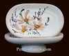 CARRY SOAP MODEL WITH RING SALMON FLOWERS DECORATION