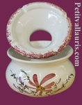 ANTI SMOKE ASHTRAY PINK FLOWERS