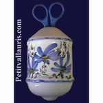 TWINE DISPENSER BLUE FLOWER DECORATION