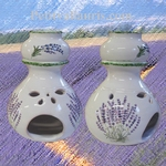 CERAMIC BRULE PERFUME (burn) WITH LAVANDER DECORATION
