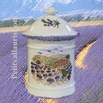 SPICES AND CONDIMENTS EARTENWARE POT WITH PROVENCAL DECOR
