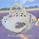 CERAMIC PANNIER DIAMETER 26 CM WITH PROVENCE DECORATION