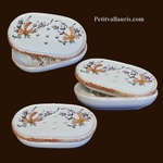 CARRY SOAP MODEL BEIGE COLOR FLOWERS  DECORATION