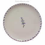 ASSIETTE SIMPLE COULEUR BLANCHE DECOR BRIN DE LAVANDE