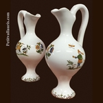 MINIATURE EWER OLD MOUSTIERS TRADITION DECOR