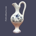 MINIATURE EWER OLD MOUSTIERS BLUE TRADITION DECOR
