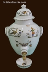 VINAIGRIER EN FAIENCE DECOR TRADITION VIEUX MOUSTIERS