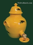 REAL FAIENCE VINEGAR PROVENCAL DECOR WITH BLACK OLIVES