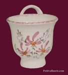 CERAMIC FUNNEL JAM PINK FLOWERS DECOR