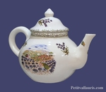 HEARTHENWARE TEAPOT PROVENCE LANDSCAPE DECORATION