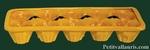 PLAQUE A OEUFS (10) COULEUR PROVENCALE  DECOR OLIVES NOIRES