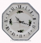 CERAMIC WALL CLOCK BLACK OLIVES AND WHITE COLOR