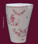 VASE GLAIEUL PINK OLD MOUSTIERS DECORATION SMALL SIZE